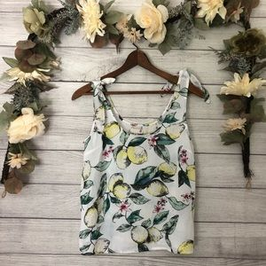 NWT SO Lemon Tied Tank Top sz M ✨